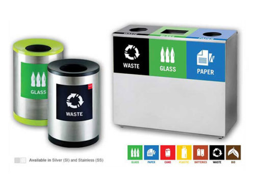 office recycle bins