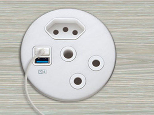 dot range in-desk plug socket